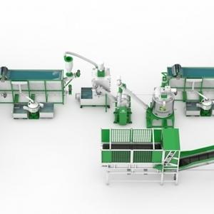 В НАЛИЧИИ: Комплекс оборудования для переработки ПЭТ бутылки в ПЭТ хлопья (флексы) СТАНКО 600